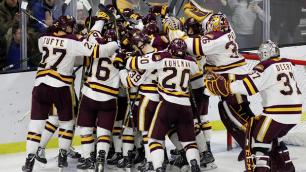 new styles b9f32 1c138 UMD Bulldogs heading back to Frozen Four via 3-1 win over ...