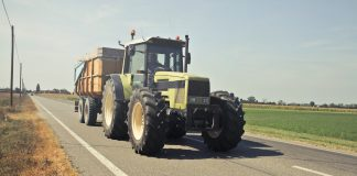 Tractor-on-road